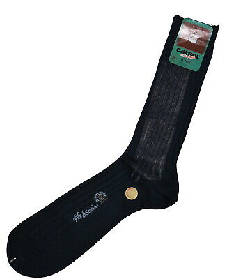 Vintage Italian Carsol Dark Blue Socks Size UK 10-11.5 EU 44-45 USA 12-12.5 NWT