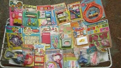 23 Plastic Toys NEW from 1960s Hong Kong mostly Mounted on Cards