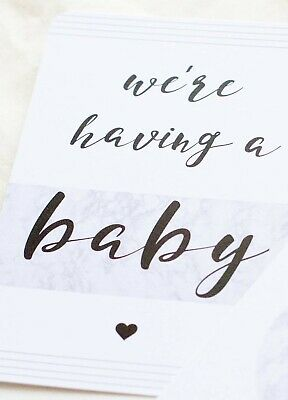 NEW - Blossom & Pear - Pregnancy Milestone Cards in Marble