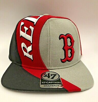 Genuine '47 Forty Seven Brand SNAPBACK HAT BOSTON RED SOCKS BASEBALL CAP NEW OSA