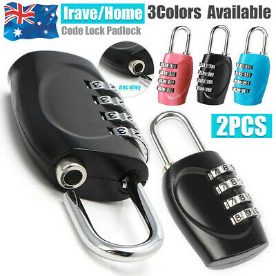 2X TSA Travel Luggage Locks Combination 4-Dial Code PadLock Suitcase Security