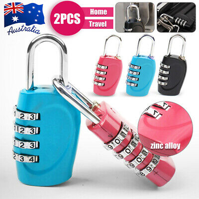 New Combination Approved 4 Dial Luggage Suitcase Security Padlock Travel Lock
