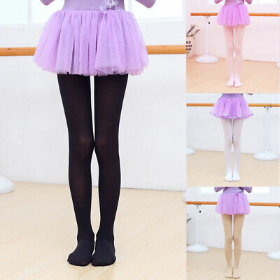 Girls Stretch Stockings Kids Hosiery Dance Ballet Footed Tights Pantyhose Socks