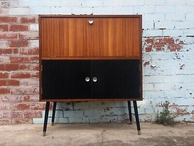 Retro VINTAGE 50s wooden Cocktail CABINET/SIDEBOARD mid-century atomic