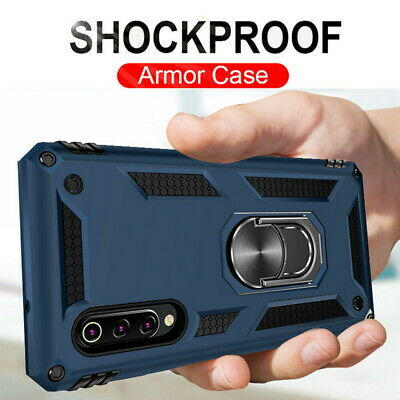 Metal Rugged Armor Ring Holder Hard Case Cover For Xiaomi Mi 9 Redmi Note 7 Pro