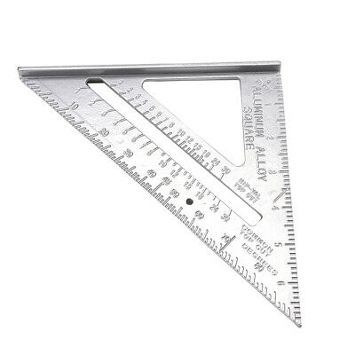 """Speed Square Roofing Rafter Angle Triangle Guide  Measure 7""""Aluminium Alloy Uk"""