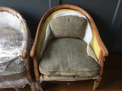 Pair Biedermeier Bergere Salon Armchair Vintage Lounge Chair Zoffany Rothko