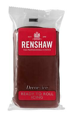 Chocolate Flavour Renshaw Ready To Roll Icing 250g Packets