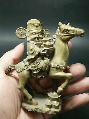 China Brass statue God of wealth & Horse Send wealth 100% copper fengshui Statue