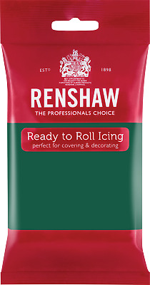 Emerald Green Renshaw Ready To Roll Icing 250g Packets