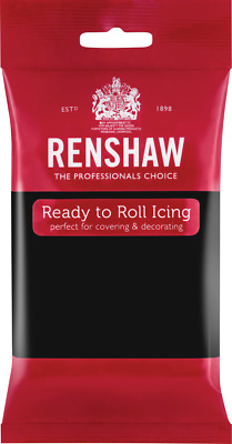Jet Black Renshaw Ready To Roll Icing 250g Packets