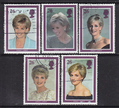1998 GB Princess Diana Commemoration SG 2021-2025 Set Of 5 Used Stamps