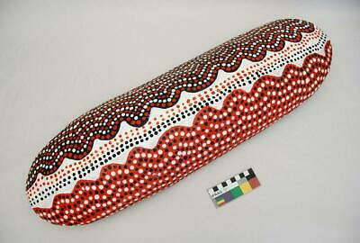 Old Vintage Central Australian Painted Aboriginal Shield Papunya Style 1980's
