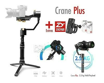 Zhiyun Crane Plus V2  3 Axis Gimbal Stabilizer + ZHIYUN REMOTE + EXTRA BATTERIES