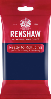 Navy Blue Renshaw Ready To Roll Icing 250g Packets