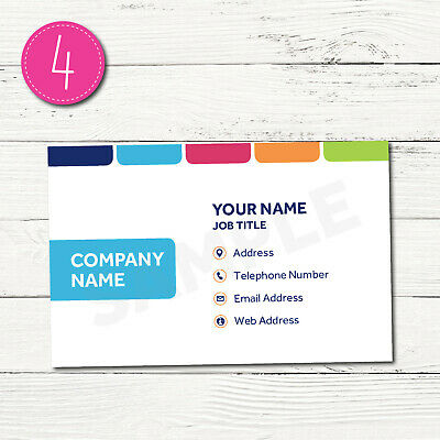 100 Personalised Business Cards - Customise & Create Your Own - Design 4