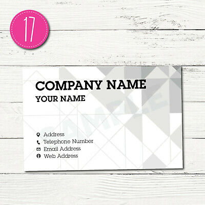 100 Personalised Business Cards - Customise & Create Your Own - Design 17