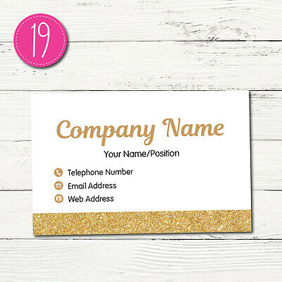 100 Personalised Business Cards - Customise & Create Your Own - Design 19