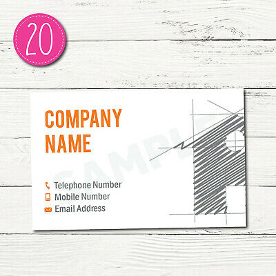100 Personalised Business Cards - Customise & Create Your Own - Design 20