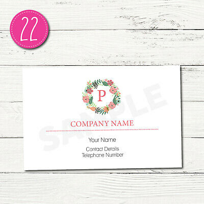 100 Personalised Business Cards - Customise & Create Your Own - Design 22