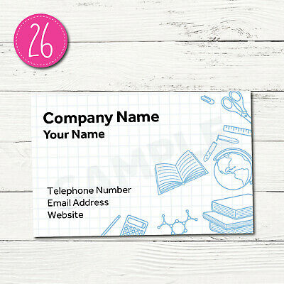 100 Personalised Business Cards - Customise & Create Your Own - Design 26