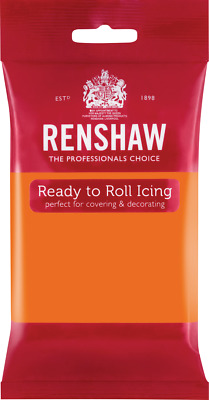 Tiger Orange Renshaw Ready To Roll Icing 250g Packets