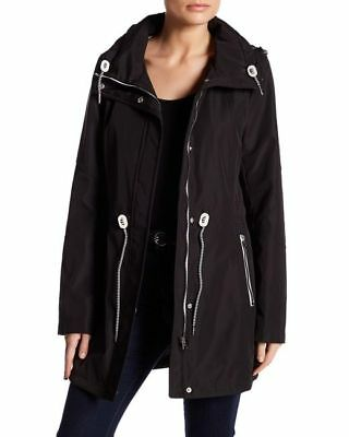 d9c0f80b99f53 NWT JESSICA SIMPSON JACKET WATER-RESISTANT ANORAK HOODED Sz M Blk MSRP $220