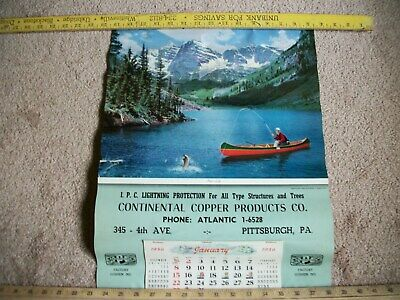 1956 Continental Copper Products Lightning Protection Calendar-Pittsburgh Pa-Nos