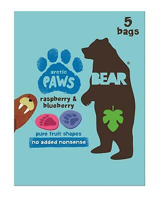 Bear Paws - Pure Fruit Nibbles - Artic Raspberry & Blueberry 5 x 20g (Pack of 4)