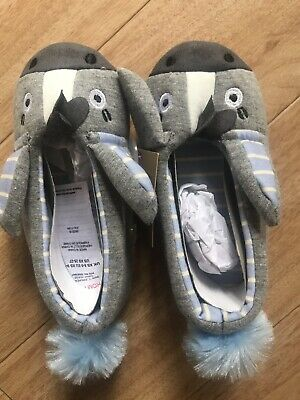 Bnwt Girls Joules Dreama Pink Horse Slippers Uk Xs Or 8-9.Rrp £14.95