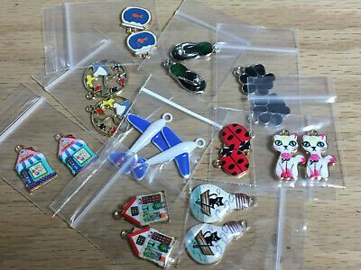 Mixed Lot Of 20 Assorted Enamel Charms Jewelry Making Supplies & Crafts D06