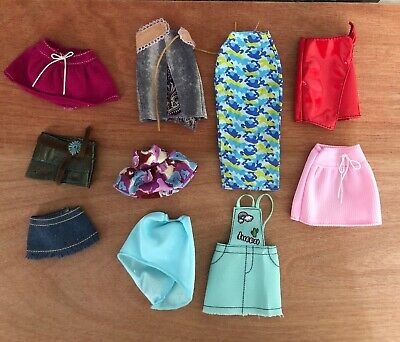 Barbie Doll Clothes Lot Skirts A