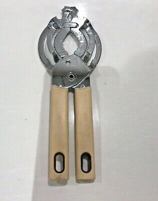 Vintage Universal Jar Lid Bottle Opener with Cream Handles, Good Used Condition