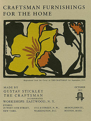Craftsman Furnishings for the Home by Gustav Stickley Catalog Reprint