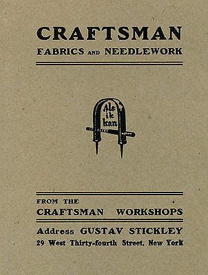 Gustav Stickley - Craftsman Fabric and Needlework - Catalog Reprint - New Cond