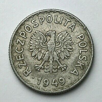 Dated : 1949 - Poland - One Zloty - 1 Zloty Coin