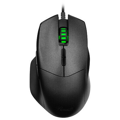 Rosewill Optical Gaming Mouse 4000 DPI, USB Wired, 8 Buttons for PC Games
