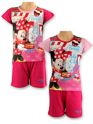Girls Minnie Mouse Shorty Pyjamas Top & Short Set Age 3 to 8 Years 831095