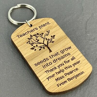 Personalised Teacher Gifts Thank You Leaving Nursery School Keyring Gift Present