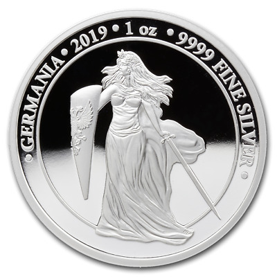 2019 Germania Proof 1 oz Silver only 1k mintage! SN# 295
