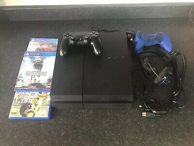 Black Sony PS4 Playstation 4 Console 500GB inc Controller Star Wars & FIFA games