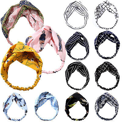 Women Ladies Girl Soft Turban Twist Knot Headband Head Wrap Hair Band Headwear
