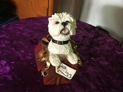 Leonardo Collection- Westie in a Gift Bag - With Love Figurine