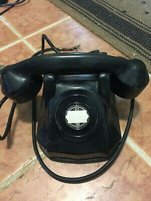 """VINTAGE """"MONOPHONE"""" TELEPHONE by AUTOMATIC ELECTRIC; BAKELITE CASE"""