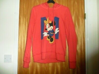 Ladies (Disney At George) Minnie Mouse Red Hoodie Top