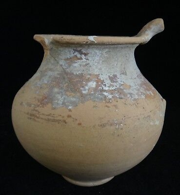"Ancient Greek Red Ware Vase, Colony of Taranto , c. 5th/3rd BCE. 4 ¾"" tall"