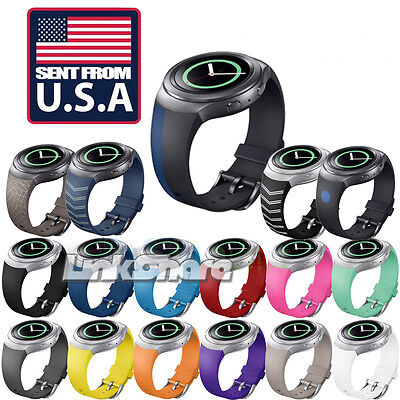 US Replacement Silicone Watch Band Strap For Samsung Galaxy Gear S2 R720 R730 e0