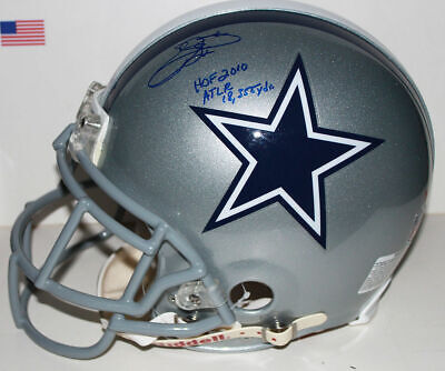 Emmitt Smith Dallas Cowboys Signed Riddell Pro-Line Helmet with Insc - PSA/DNA