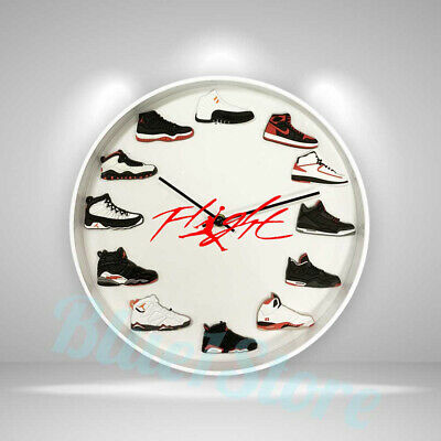 "New Handcrafted 12"" 2D Jordan Sneakers clock nike off white yeezy suporeme ovo"