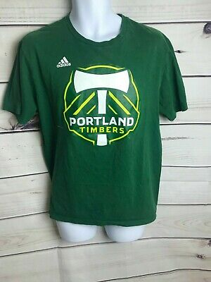 Portland Timbers Adidas MLS The Go-To Performance Green T-Shirt Men's (Size: L)